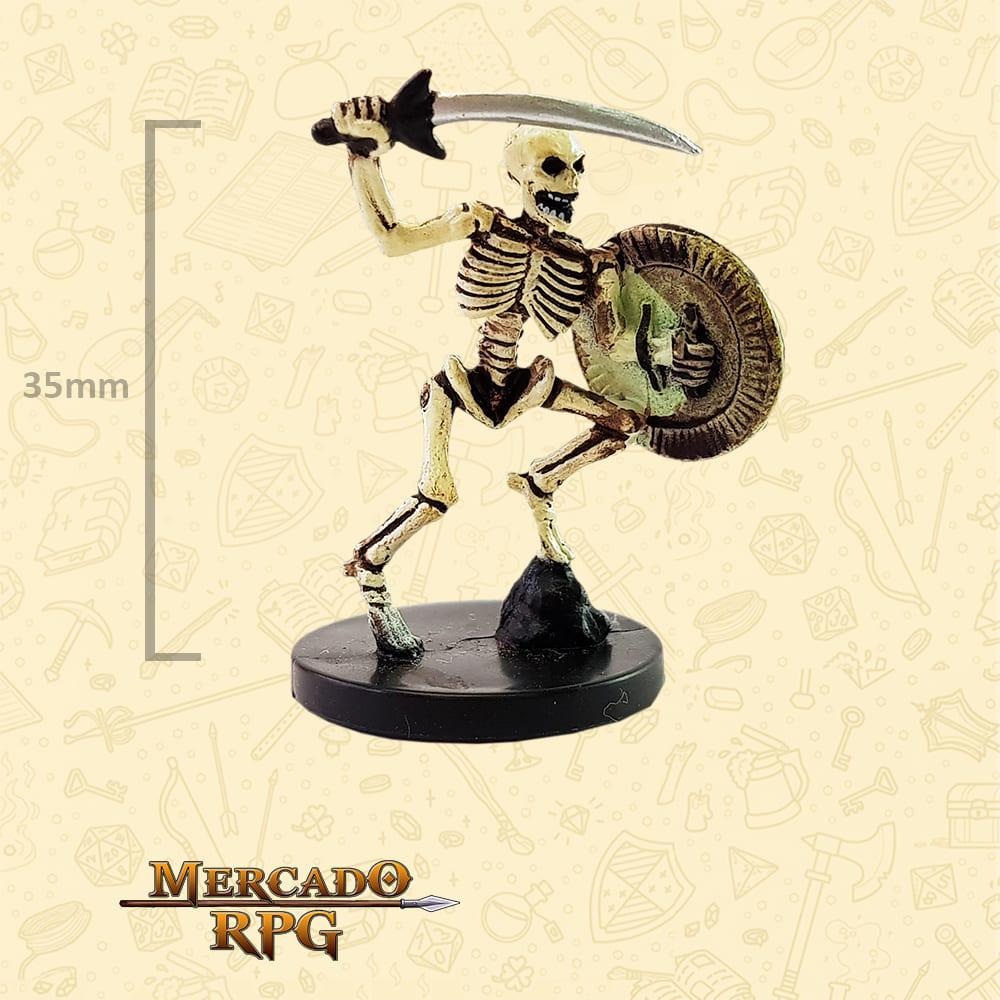 Warrior Skeletal - Miniatura D&D - RPG