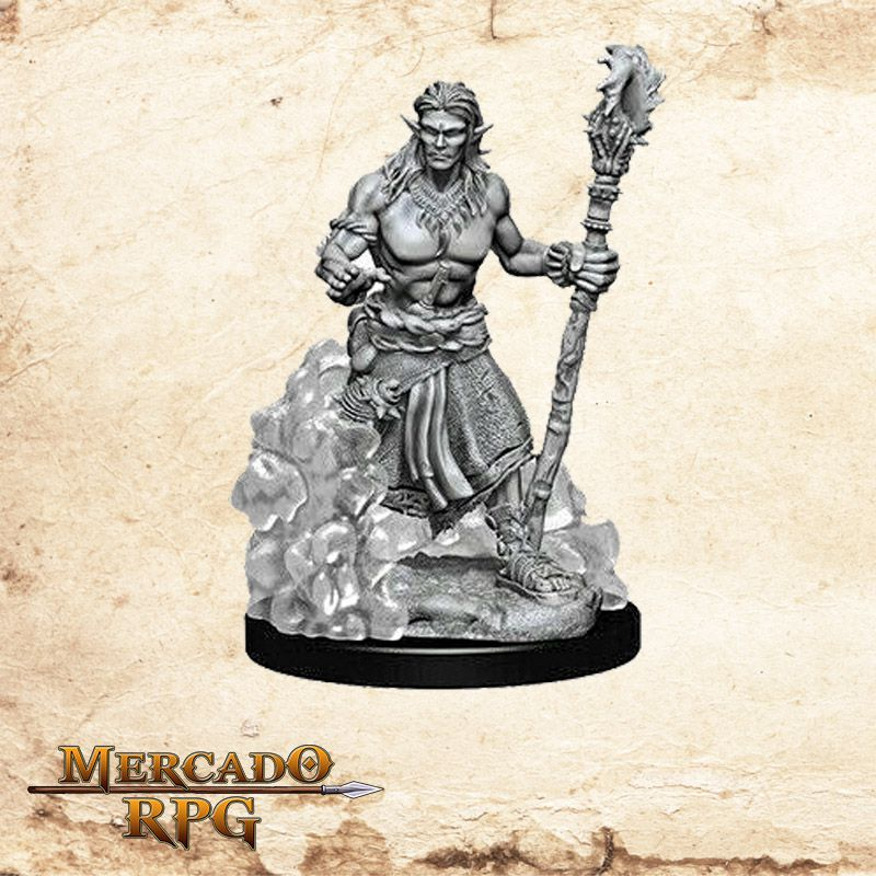 Water Genasi Male Druid A - Miniatura RPG  - Mercado RPG