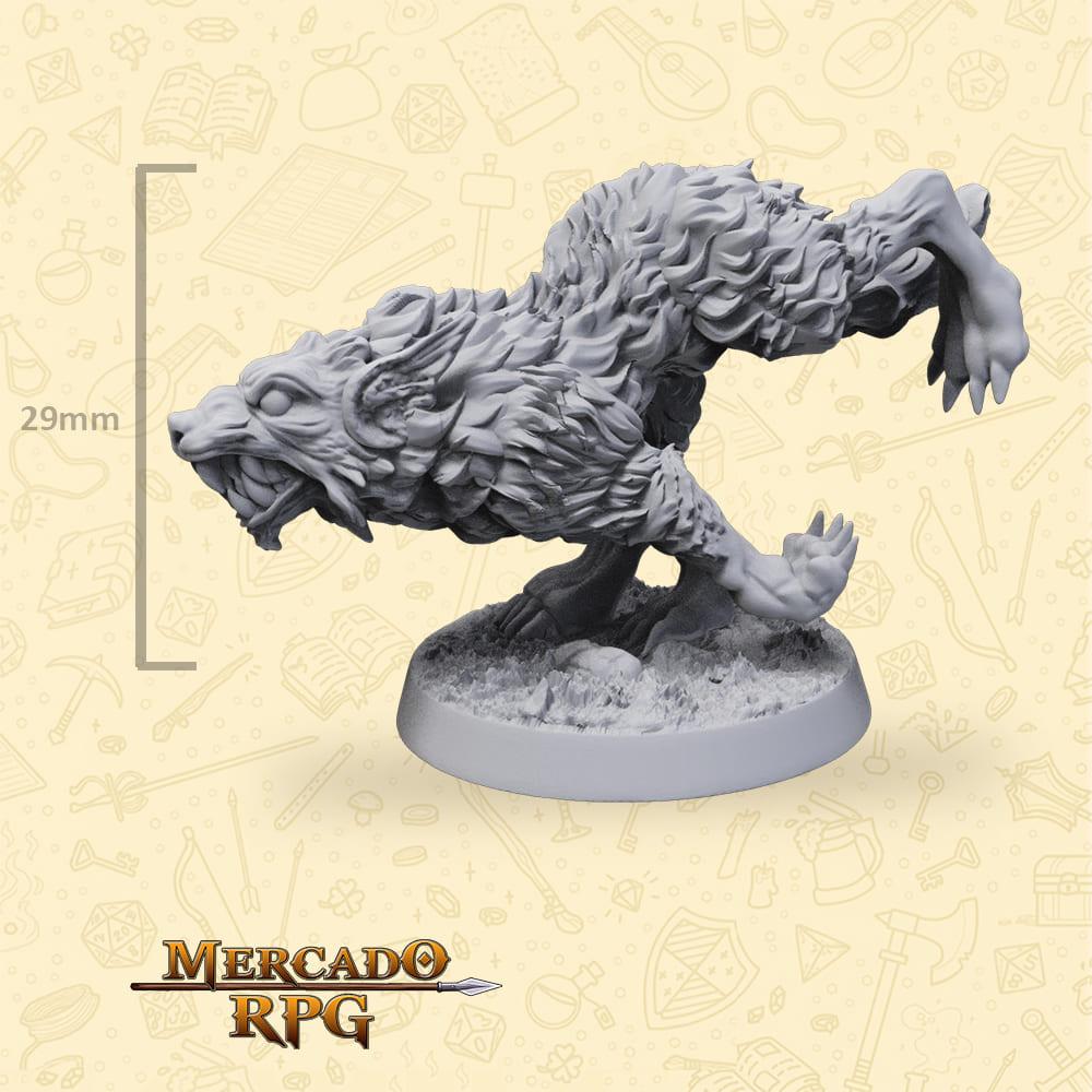 Wild Wolf B - Miniatura - RPG