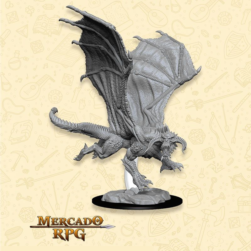 Young Black Dragon - Miniatura RPG