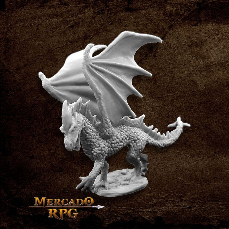 Young Fire Dragon - Miniatura RPG