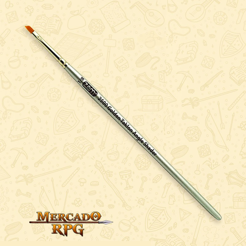 Pincel para Drybrush Zem Brush 2500 Golden Taklon Angle Shader 1/8 - RPG - Mercado RPG