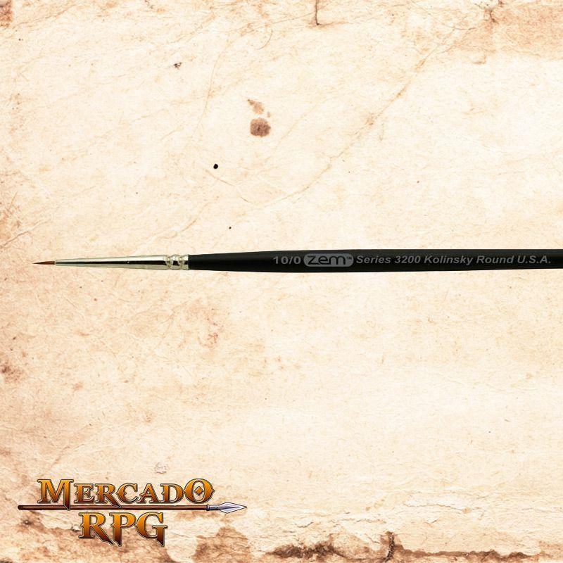 Zem Brush 3200 Kolinsky Pure Sable 10/0  - Mercado RPG