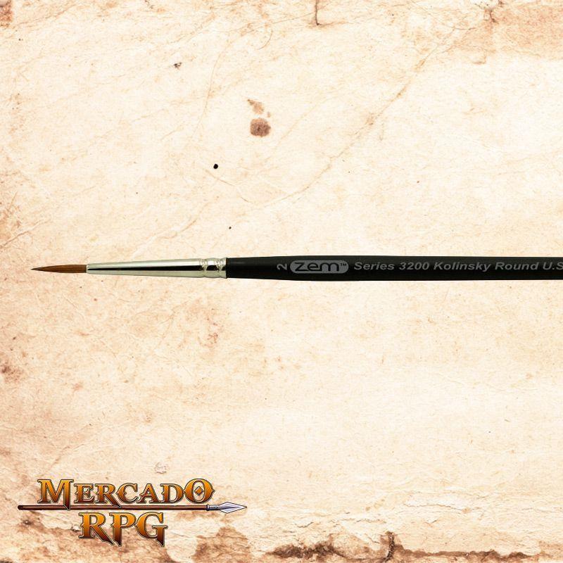 Zem Brush 3200 Kolinsky Pure Sable 2  - Mercado RPG