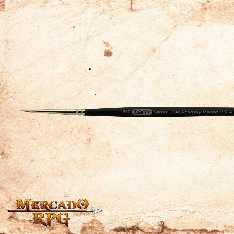 Zem Brush 3200 Kolinsky Pure Sable 3/0  - Mercado RPG