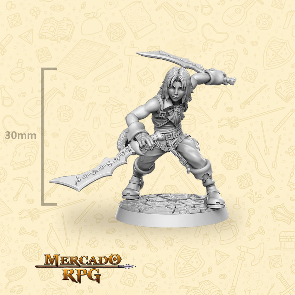 Zidane Tribal - Miniatura Final Fantasy - RPG