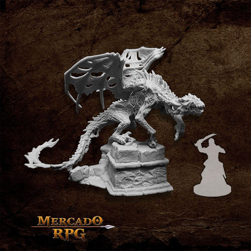 Zombie Dragon - Miniatura RPG  - Mercado RPG