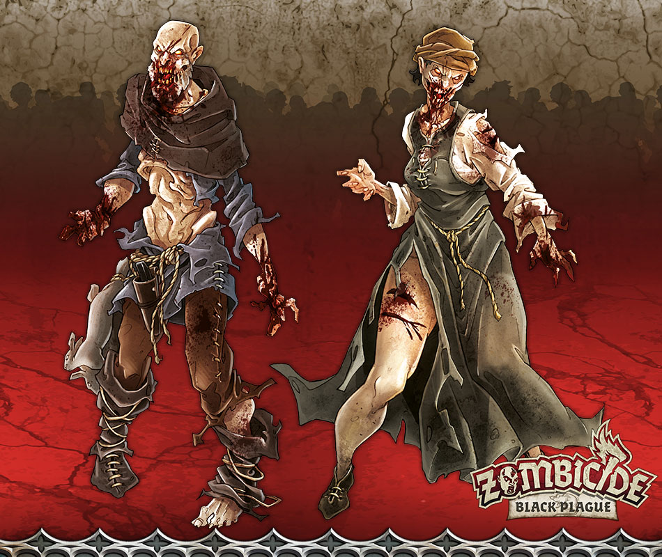 Zombie Walker D - Miniatura RPG  - Mercado RPG