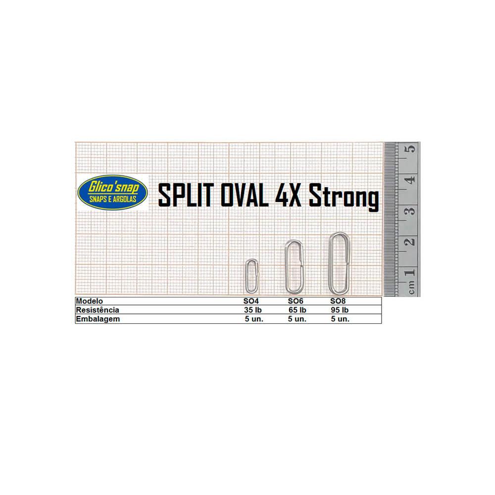 ARGOLA GLICO SPLIT OVAL 4X STRONG