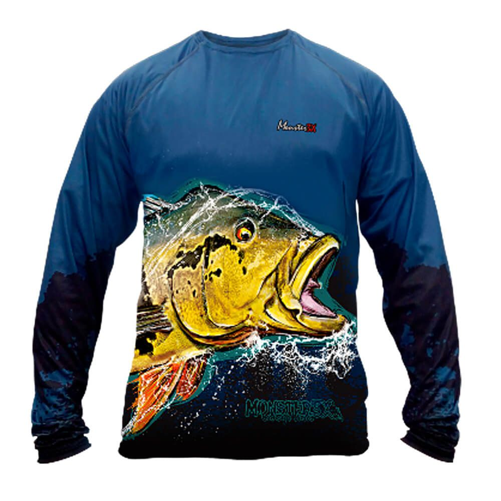CAMISA MONSTER M3X NEW FISH COLLECTION TUCUNARÉ AÇÚ