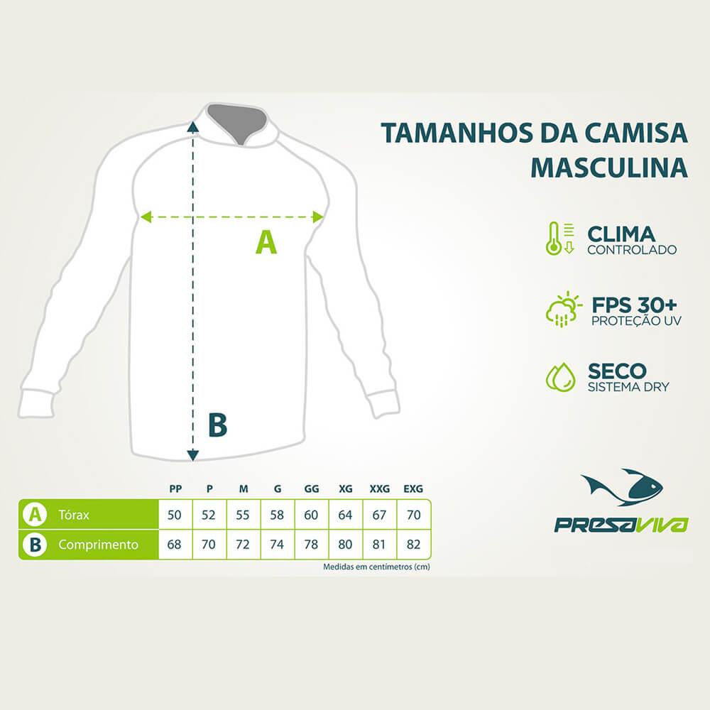CAMISA PRESA VIVA ANGLER BRASIL - LANÇAMENTO
