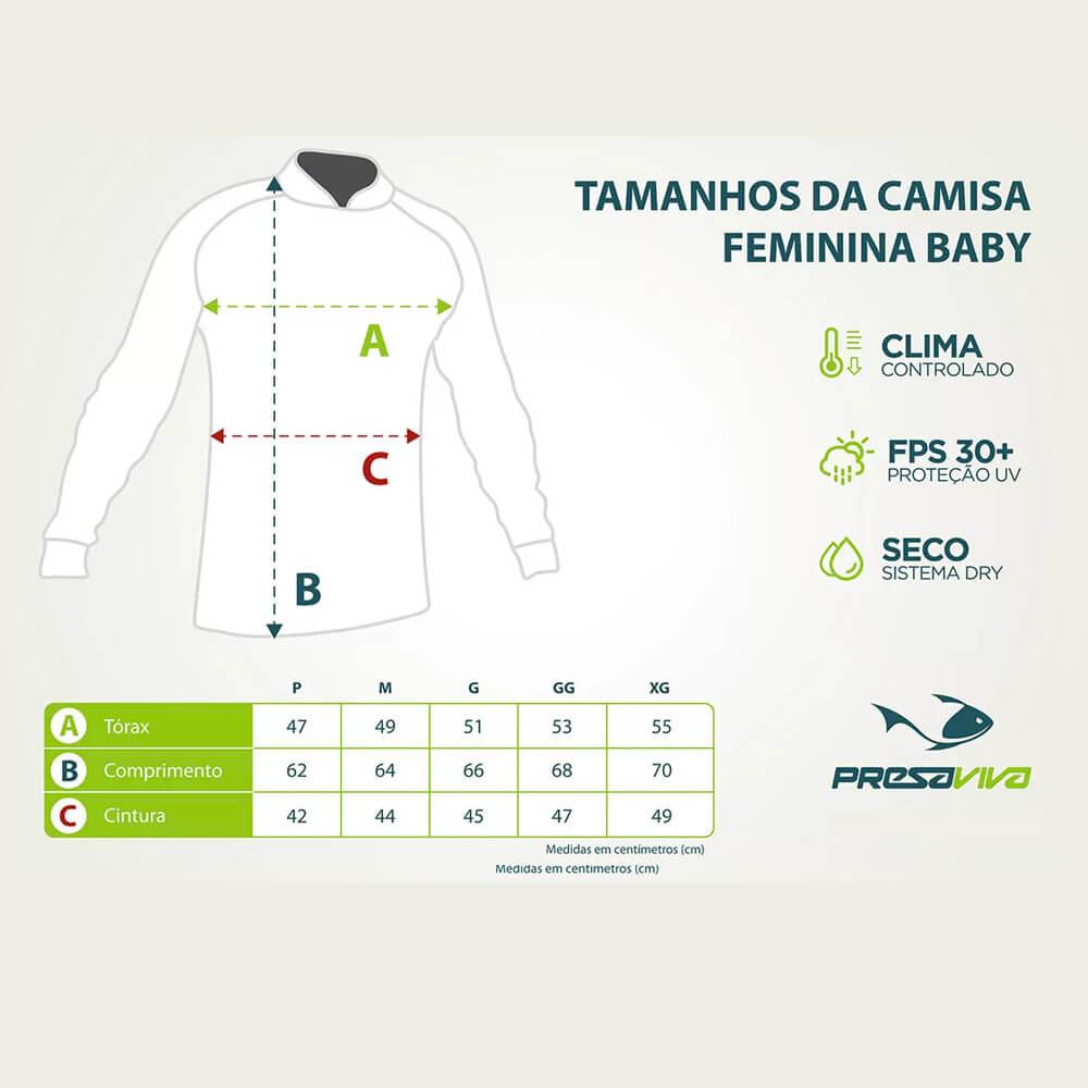 CAMISA FEMININA PRESA VIVA ANGLER BRASIL - LANÇAMENTO