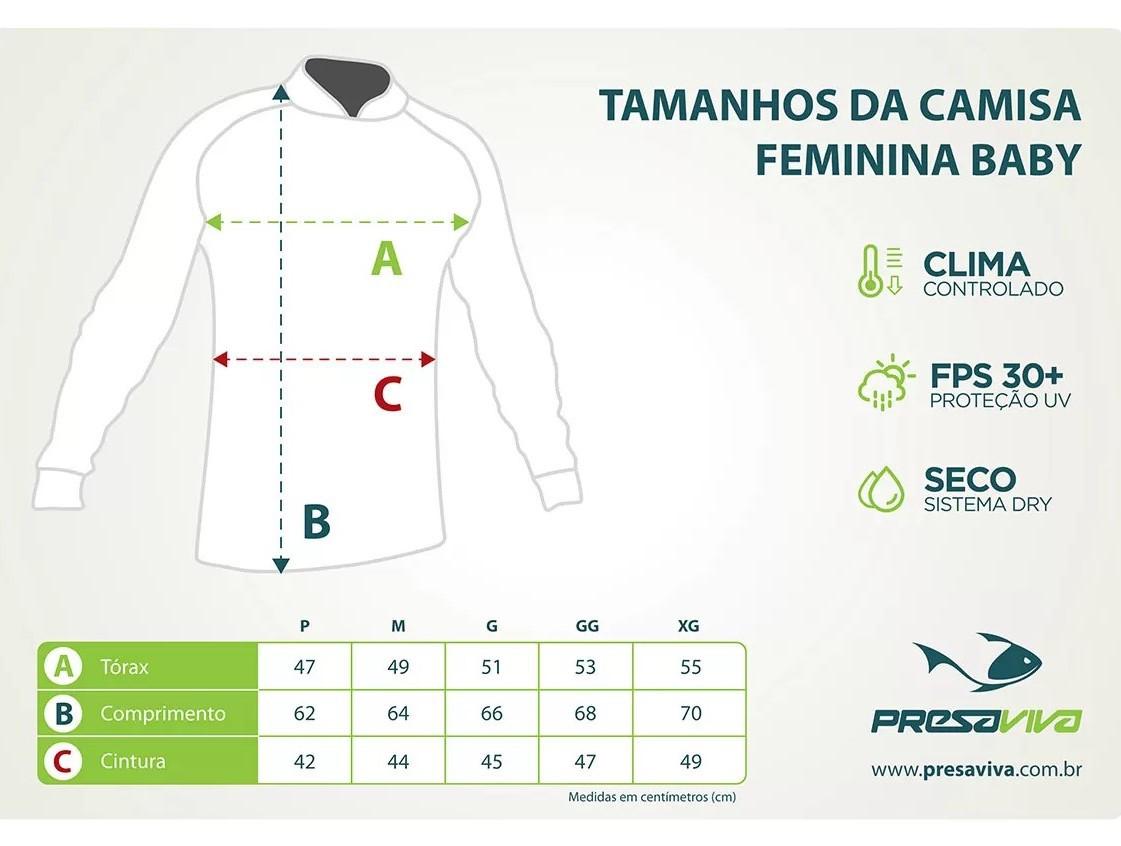 CAMISA PRESA VIVA FEMININA PV 07 - BABY LOOK