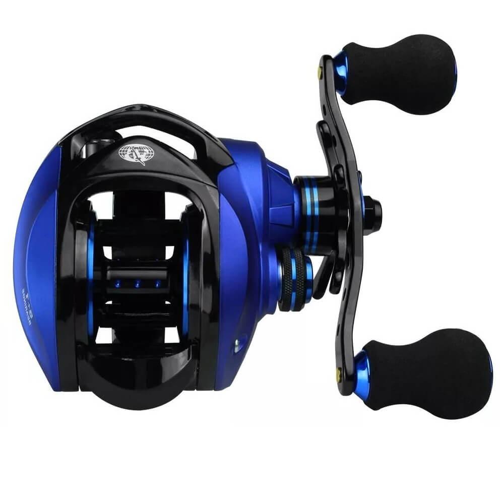 CARRETILHA ALBATROZ FISHING CORAL BLUE 7.0:1 - MANIVELA DIREITA