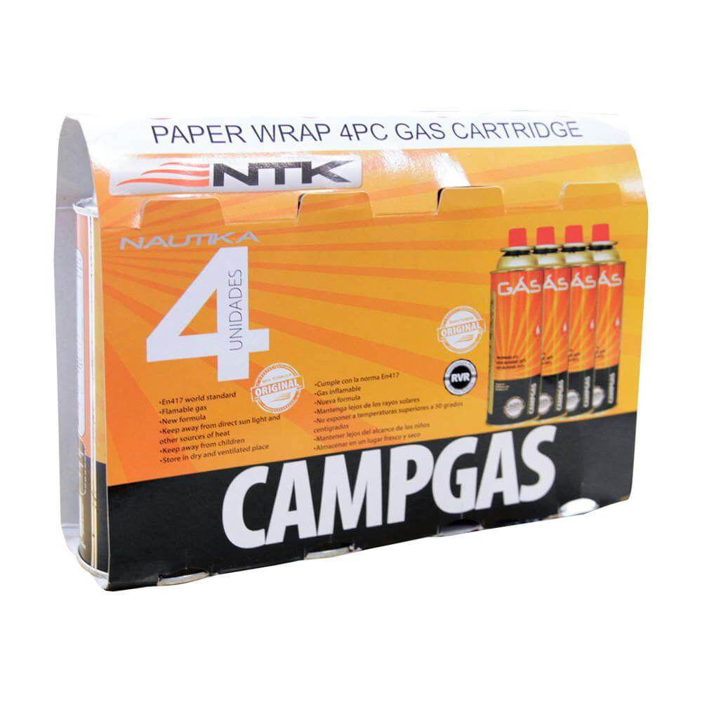 CARTUCHO DE GÁS NAUTIKA CAMPGAS KIT 4 UNIDADES