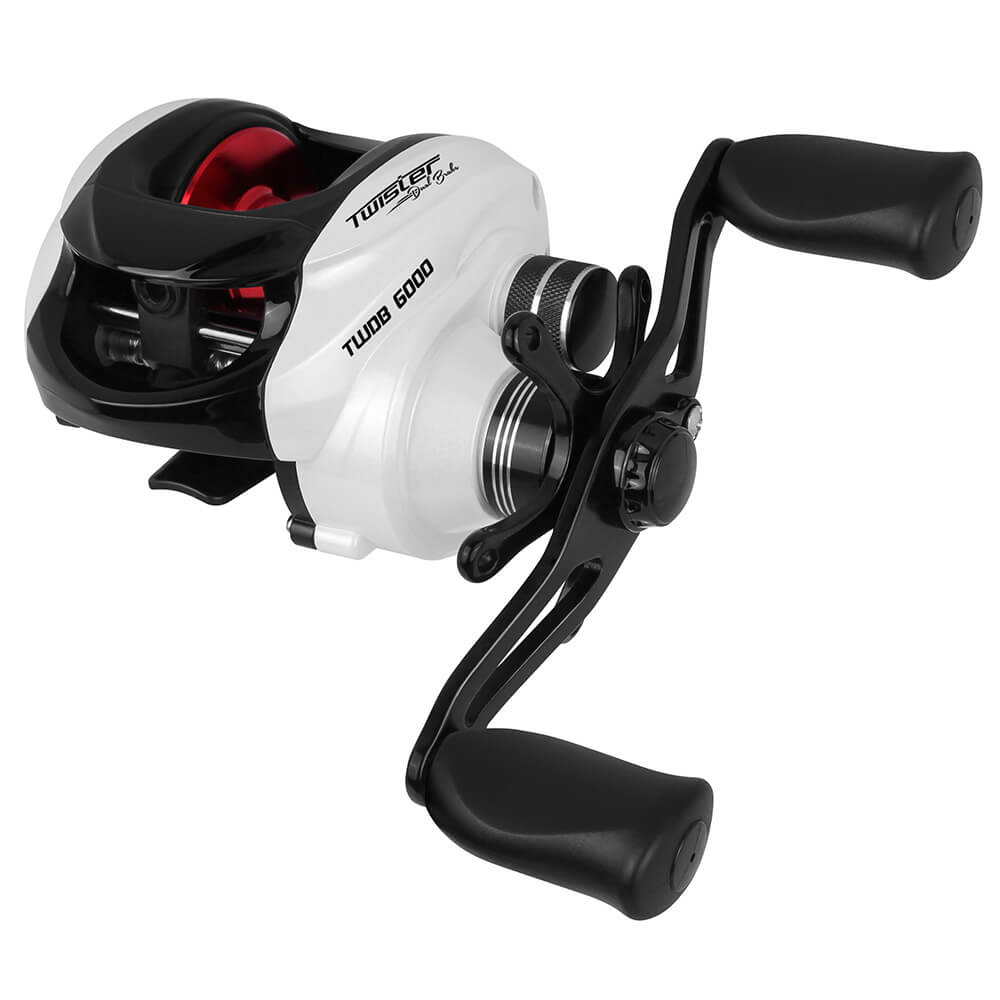 CARRETILHA SAINT PLUS TWISTER DUAL BRAKE 6000 LH - MANIVELA ESQUERDA