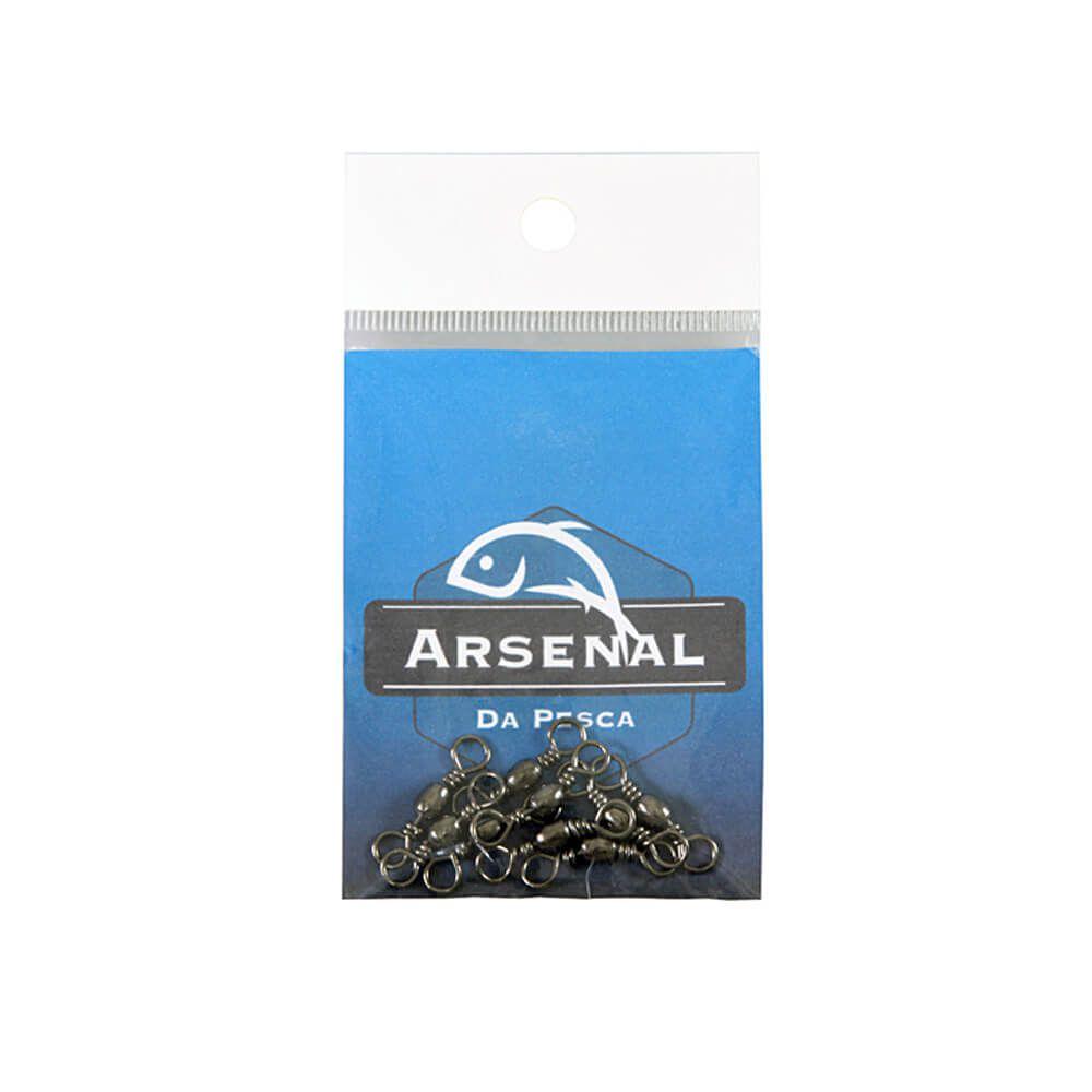 GIRADOR ARSENAL DA PESCA - BLACK NICKEL