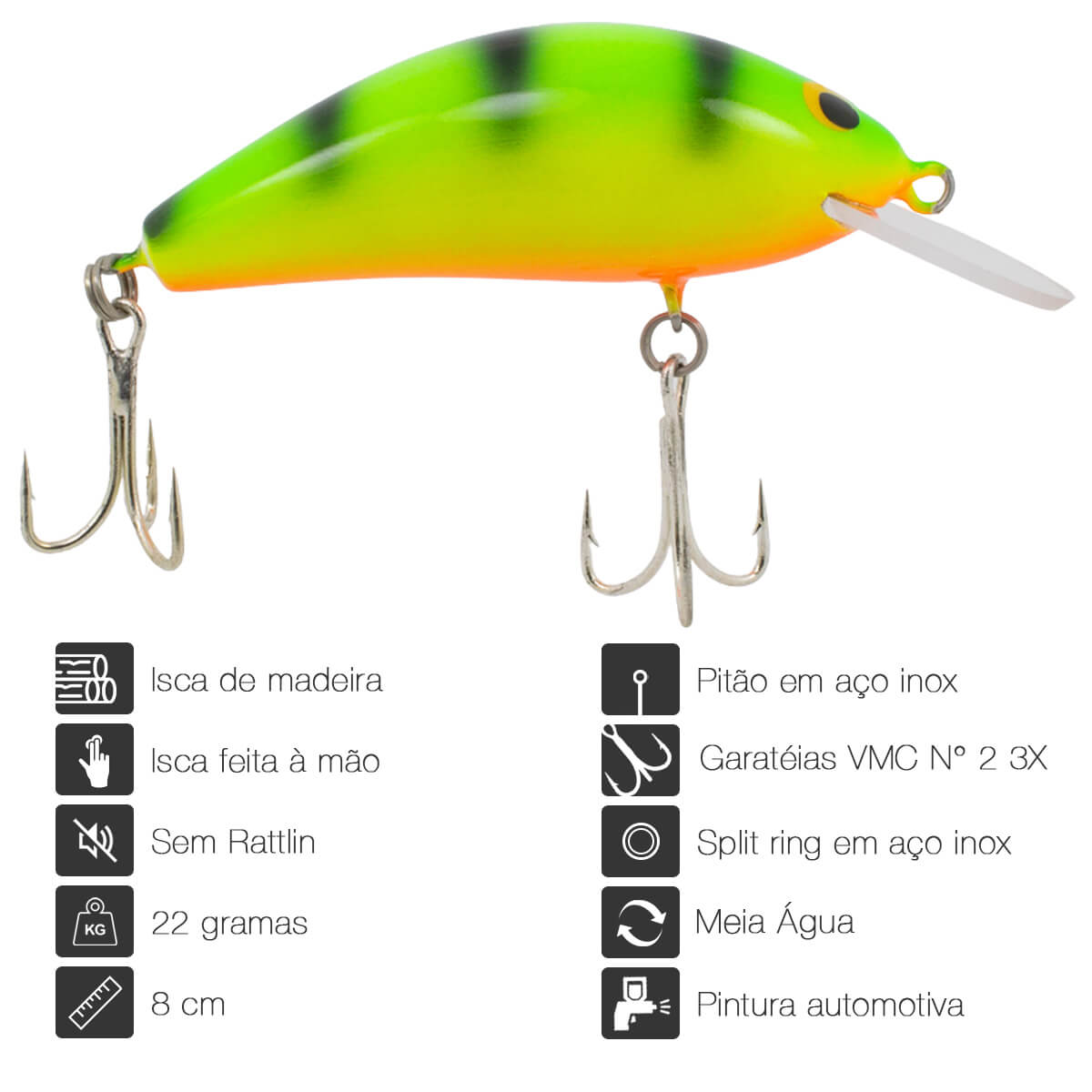 ISCA OCL LURES BIG LITTLE 80 - 8CM 22G