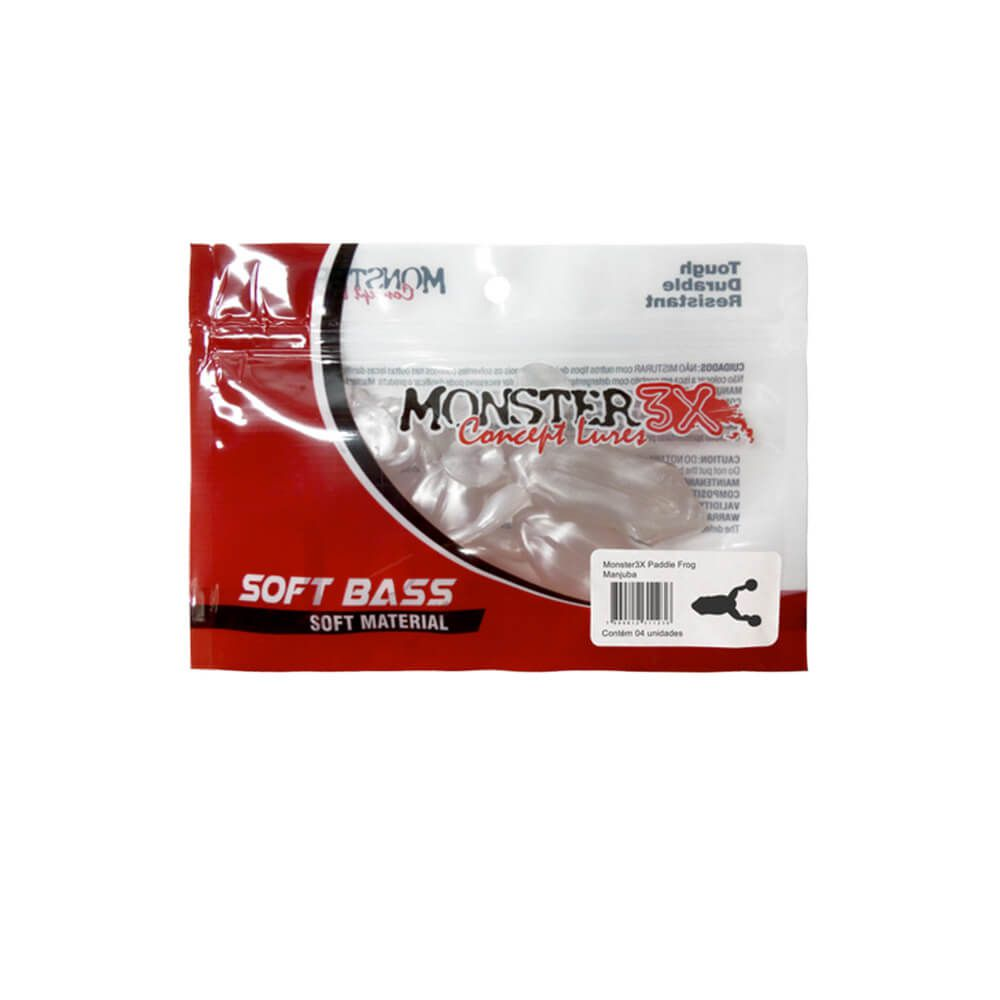 ISCA SOFT MONSTER 3X PADDLE FROG 9,5CM - PACOTE C/ 2UN