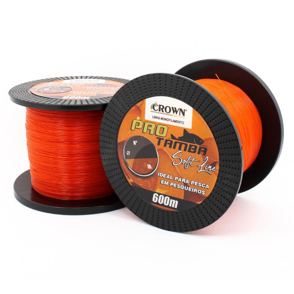 LINHA MONOFILAMENTO CROWN PRO TAMBA SOFT ORANGE 0,40MM - 600M