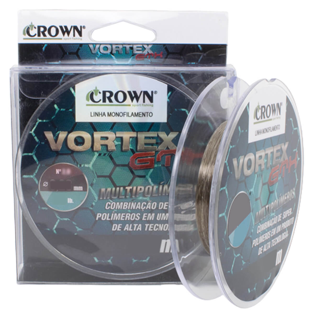 LINHA MONOFILAMENTO CROWN VORTEX GTX 0,23MM - 300M