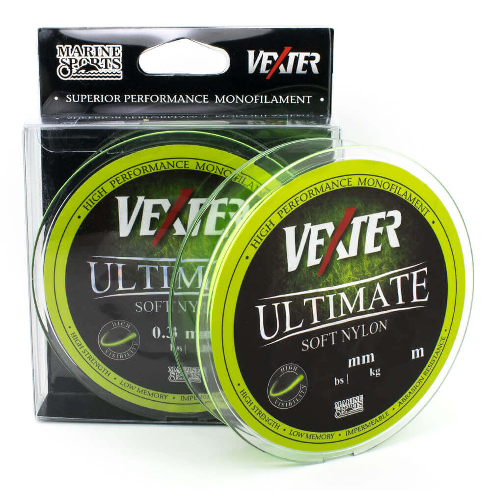 LINHA MONOFILAMENTO MARINE SPORTS VEXTER ULTIMATE SOFT CHARTREUSE - 300M