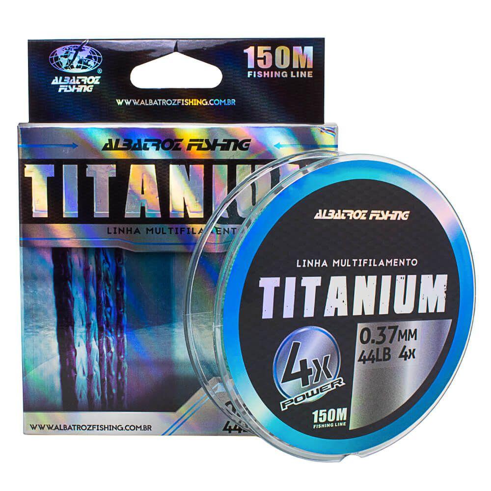 LINHA MULTIFILAMENTO ALBATROZ FISHING TITANIUM X4 0,37MM 44LB VERDE - 150M