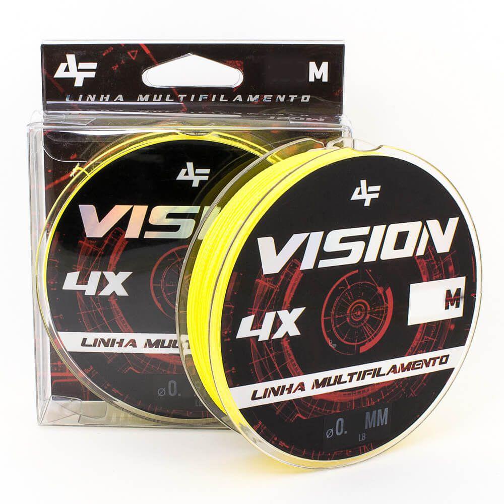 LINHA MULTIFILAMENTO ALBATROZ FISHING VISION X4 150M - AMARELA