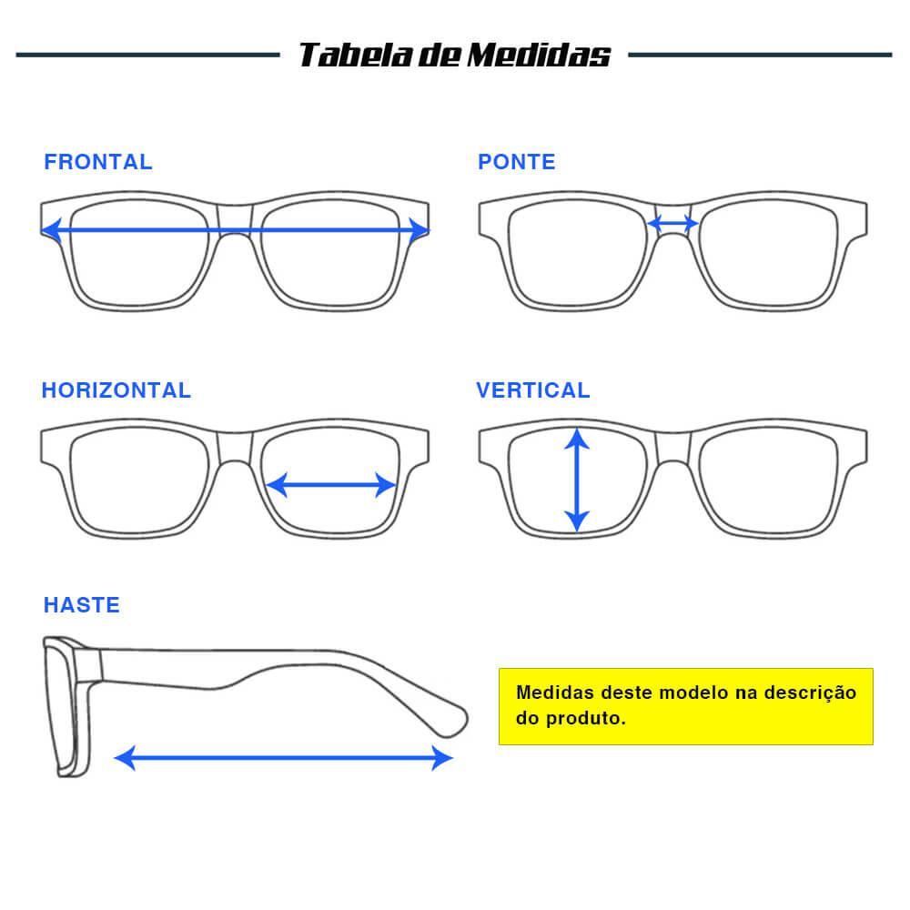 ÓCULOS YARA DARK VISION POLARIZADO 01851 - LENTE AZUL ESPELHADO