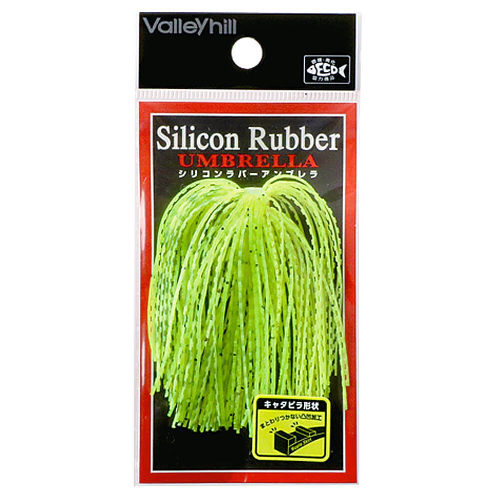 CERDAS DE SILICONE PARA JIG HEAD VALLEY HILL SILICON RUBBER UMBRELLA ONDULADO