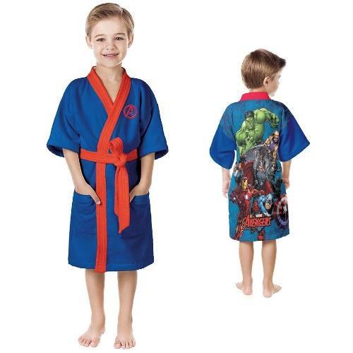 Roupão Infantil Aveludado Vingadores Tam M 8 a 10 Anos Lepper