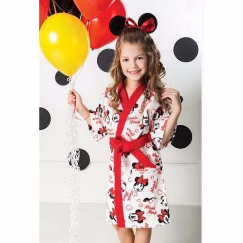 Roupão Infantil Felpudo Disney Minnie Tam G (12 A 14 Anos)