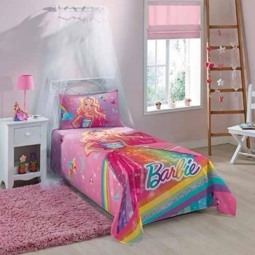 e9e67b5e36 Jogo De Lençol Infantil Barbie 02 Peças Lepper 1
