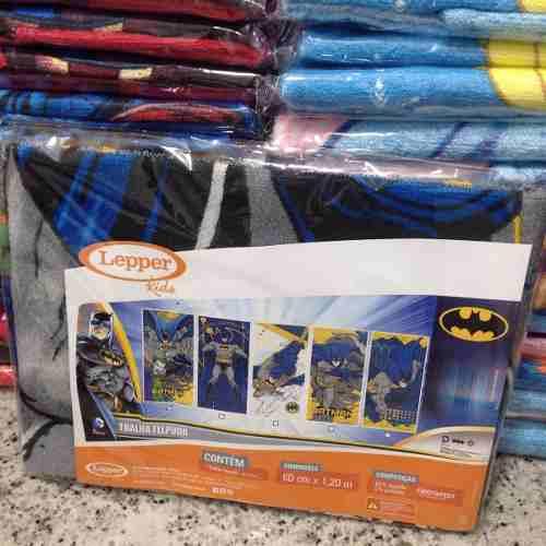 Toalha Banho Infantil Felpuda Batman Lepper Oficial #3