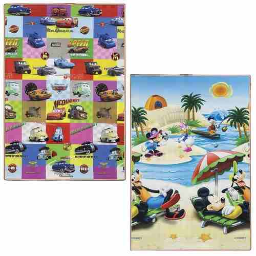 Tapete Recreio Jolitex Dupla Face Mickey E Carros 1,20x1,80m