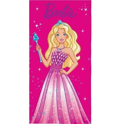 Toalha Banho Infantil Aveludada Estampada Barbie Lepper
