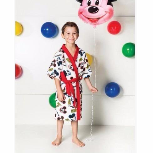 Roupão Infantil Felpudo Disney Mickey Tam M (8 A 10 Anos)
