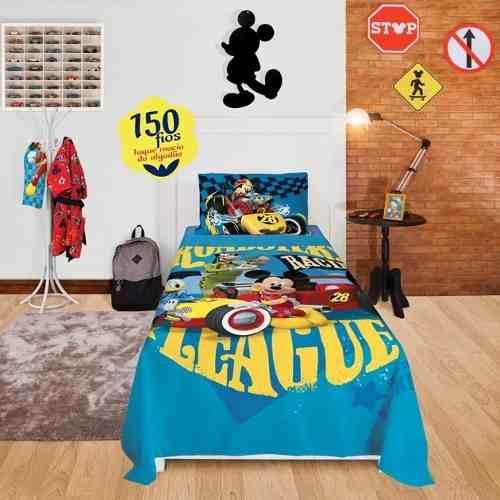 Jogo Lençol Infantil Mickey 02 Peças Lepper 1,50x2,10m Oficial