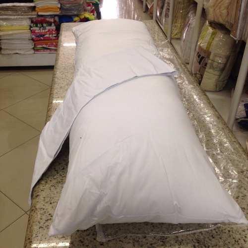 Kit Com 02 Travesseiros Corpo 0,50x1,40 C/fronha Percal