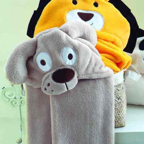 Manta Baby Com Capuz Jolitex 0,75x1,00m Bichos Cãozinho