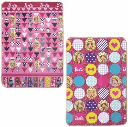 Tapete Infantil Recreio Jolitex Dupla Face Barbie 1,20x1,80m