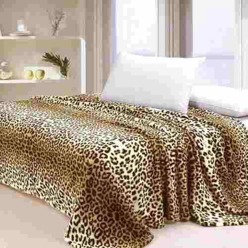 Manta Jolitex Solteiro Dyuri Animalprint Microfibra Leopardo