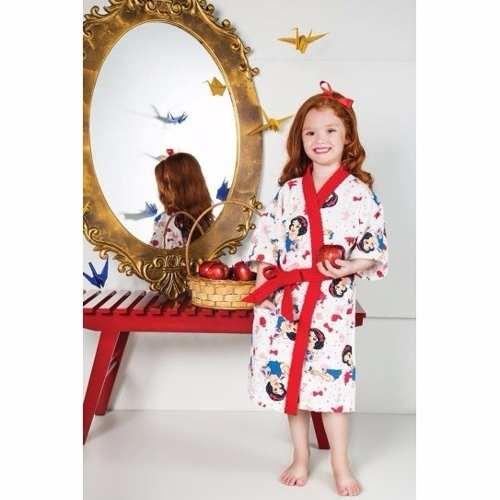 Roupão Infantil Felpudo Princesas Tam M (8 A 10 Anos) Lepper