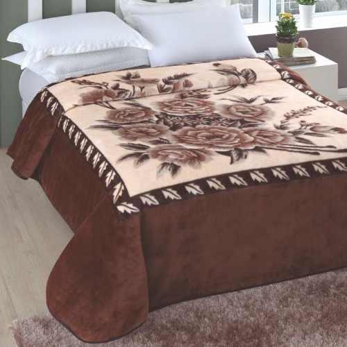 Cobertor Jolitex Casal Kyor Plus 1,80x2,20m Melides Marrom