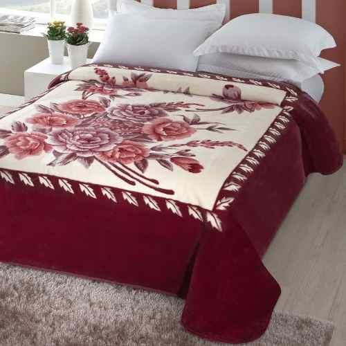 Cobertor Jolitex Casal Kyor Plus 1,80x2,20m Melides Vinho
