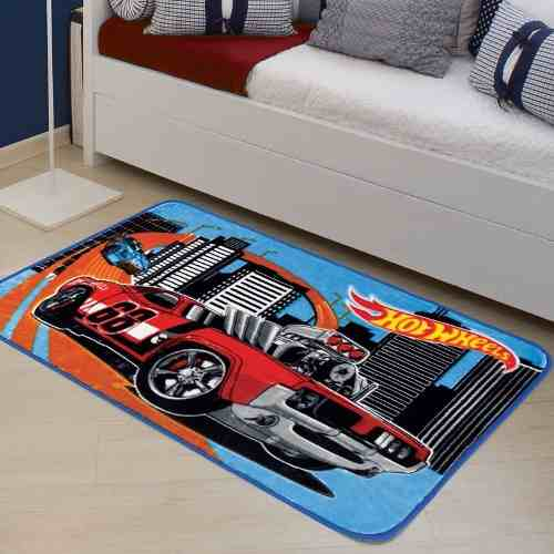 Tapete Infantil Jolitex Hot Wheels Desafio Mattel 0,70x1,10m