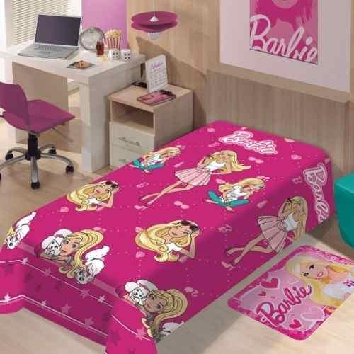 Manta Jolitex Solteiro Soft Microfibra Barbie Fashion