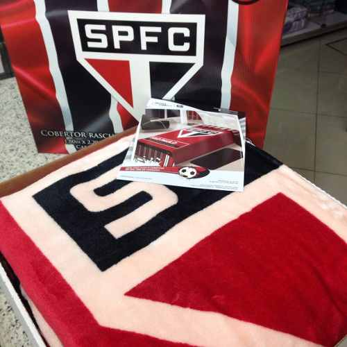 Cobertor Jolitex Casal Raschel Toque Macio Time São Paulo