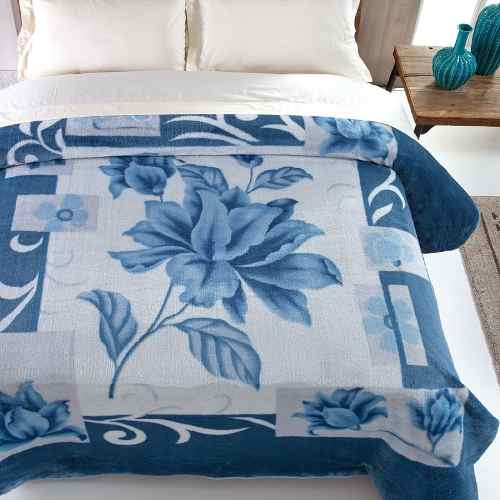 Cobertor Jolitex Casal Kyor Plus 1,80x2,20m Malbec Azul