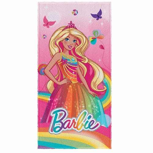 Toalha De Banho Infantil Felpuda Barbie Arco-íris Lepper #2